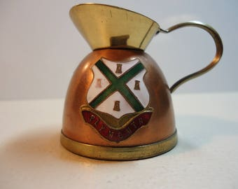 Peerage Miniature Pitcher Made in England Brass and Copper