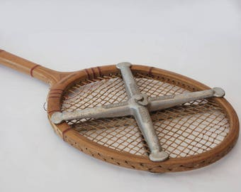 Wooden tennis racket,  Vintage racquet Kentucky, Sport decor, Gift idea for tennis lover.