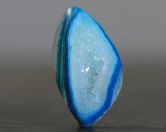 Blue Quartz Drusy Polished Geode Flat Back Jewelry Designing Stone Crystallized Bezel Edge Druzy Gemstone Cabochon (20604)
