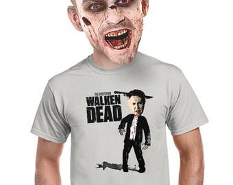 walking dead t-shirt, christopher walken, geeky parody tee, horror movie, fan of the walking dead,  walking dead tv series, funny tee, s-4xl