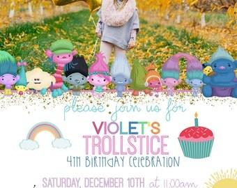 Trolls Movie Invitation, Trolls invitation, Trolls birthday invitation, Trolls invitations, Trolls party invitation