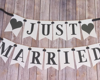 NEW!! | JUST MARRIED Banner |  Wedding | Photo Prop