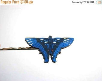 SALE batwinged butterfly hairpin blue butterfly bobby pin / hair grip