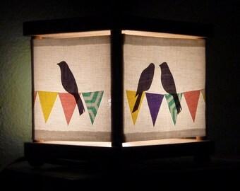 Bird Night Light Banner Decor Nightlight
