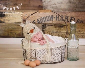 Crochet Baby Chick Hat, Newborn Chick Hat, Easter Hat, Baby Hat, Baby Girl Chick Hat, Baby Boy Chick Hat, Newborn Photography Prop