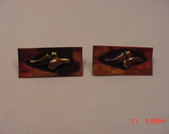 2 Vintage Abstract Copper Scatter Or Duet Pins Or Brooches  17 - 133