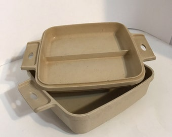 Littonware Microwave Casserole Cookware 1 quart square with lid