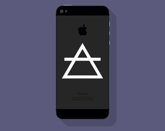 New! - AIR SYMBOL Vinyl Decal, Alchemy Phone Decal, The Four Elements, Cell Phone Decal
