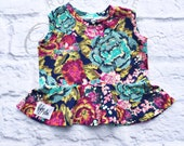 Boho Bloom Peplum Top