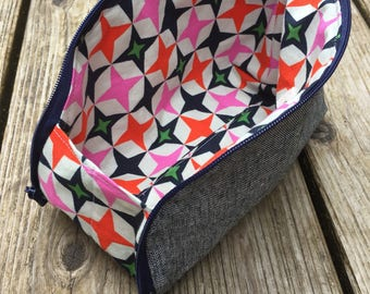 Open Out Box Pouch, Zip Up Pouch, Folding Zip Up Pouch , Zippered Pouch, Project Bag, Makeup Bag, Travel Pouch, Made to Order