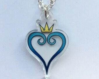 Kingdom Hearts - Acrylic Gamer Necklace - Sora - Riku - Axel - Roxas - FREE SHIPPING