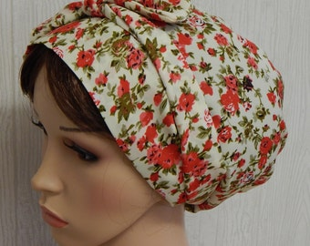 Women's floral head covering, summer headscarf, sleeping head scarves, hair wrap bonnet, hair scarf, women's head wear
