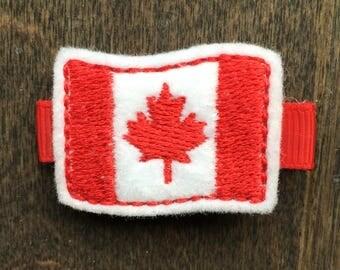 Canada Felt Hair Clip - No Slip Grip