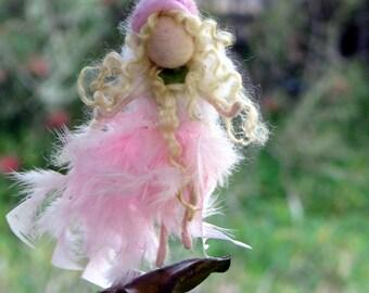 Fairy ornament, Needle felted decoration, Waldorf inspired fairy, Princess ornament, Felted ornament, Fairy mobile, Nursery decoration