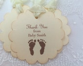 From Baby Thank You Tags Gender Neutral Tags Set of 10 Thank You from Baby Favor Tags