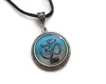 Spiritual OM Pendant Necklace   Reiki Necklace   Yoga Necklace   OHM Spiritual Jewelry   Aromatherapy Diffuser Jewelry   Unique Gifts