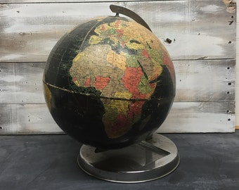 "Vintage Replogle 12"" Black Starlight Globe"