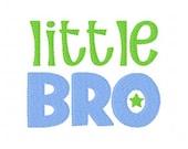 Little Bro Brother Machine Embroidery Design // Joyful Stitches