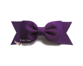 Babygirl Hair Bow/First Day of School Purple Hair Bows/Purple Hair Clip/Hairbows/Fall Hair Bows/Bows for Girls/Toddler Hair Bows/Baby Bows