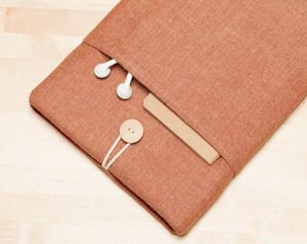 iPad Pro 9.7 sleeve / iPad Air case / iPad Pro 10.5 sleeve / iPad Pro case  / iPad Air sleeve / - Chestnut