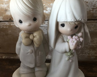 Vintage Johnathan & David Enesco May The Lord Bless And Keep You Figurine E-3114