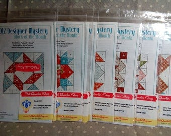 2012 Designer Mystery BOM Patterns Fat Quarter Shop
