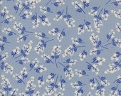 Bouquet in blue from the S.S. Bluebird 2016 / 2017 fabric collection by Cotton and Steel  - 5101-01