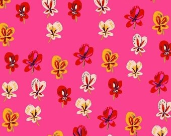 Pansies in pink from the Sleeping Porch by Heather Ross for Windham fabrics- 42206-1