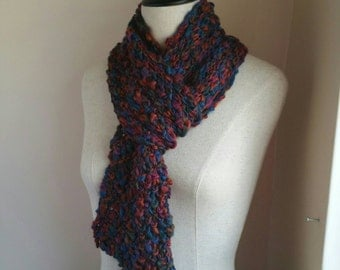 The Elegance Scarf in Fall Colors Vangard Multi Color Wool