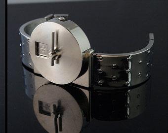 vintage unisex wrist watch futuristic Sci Fi Hi Tek London Alexander Cyber Goth Cyber Punk style unusual gift for him gift for her