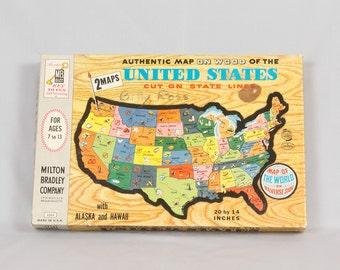 World Map Etsy - Us map puzzle wood