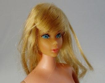 Blond Hair Head Midge Doll Vintage Mod Barbie Mattel