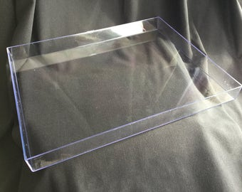 Marbling Tray Box Marbled Paper Acrylic Plastic Tank Three Sizes Do It Yourself DIY Marbling Supplies
