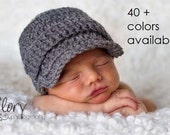 Baby Boy, Coming Home Outfit, Baby Hat, Baby Boy Hat,  Newborn Hat, Photo Props, Crochet Hat, Winter Hats, Newborn Boy Hat, Newsboy Hat