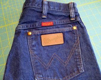 Vintage Wrangler jeans 1990's dark blue indigo size 11