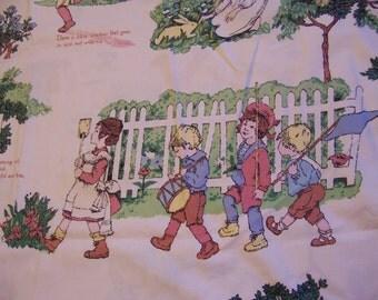 vintage juvenile  fabric for repurposing
