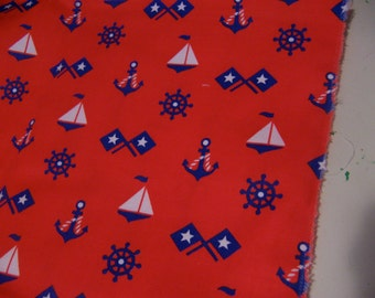 heavy duty cotton anchors fabric piece