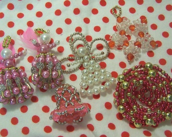 lovely hand beaded ornaments