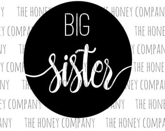 Big Sister SVG PNG DXF Instant Download Silhouette Cricut Cut Files Cutting Machine String Art Template