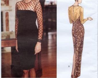 Scaasi Vogue American Designer Dress Sewing Pattern - Vogue 1285 - Sizes 18-20-22 - UNCUT