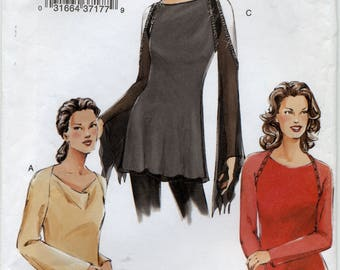 Vogue Fitted Top Sewing Pattern - Vogue 7800 - Sizes 12-14-16 - UNCUT