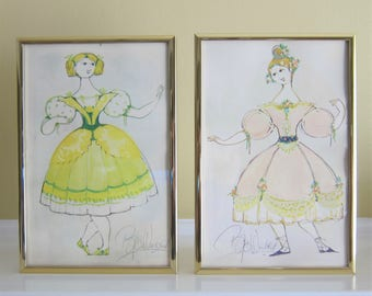 Bjorn Winblad prints of dancers framed (2)