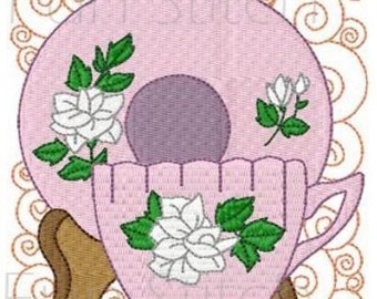 set of 12 teatime blocks machine embroidery designs instant download