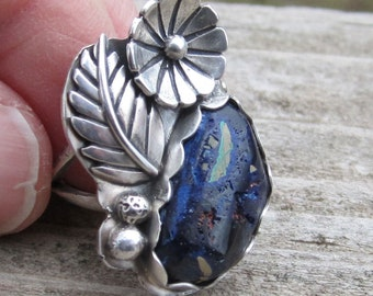 Azurite Sterling Silver Ring - Size 6 1/2