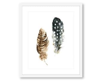 Feather Wall Art boho art print free spirit feather wall art boho decor