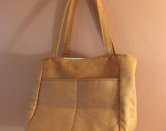 Beth #60  Faux Suede Purse, Purses, Knitting Bag, Knitting Bags, Project Bags, Projects, Project Bags, Diaper Bag, Self Standing Bag, Yarn
