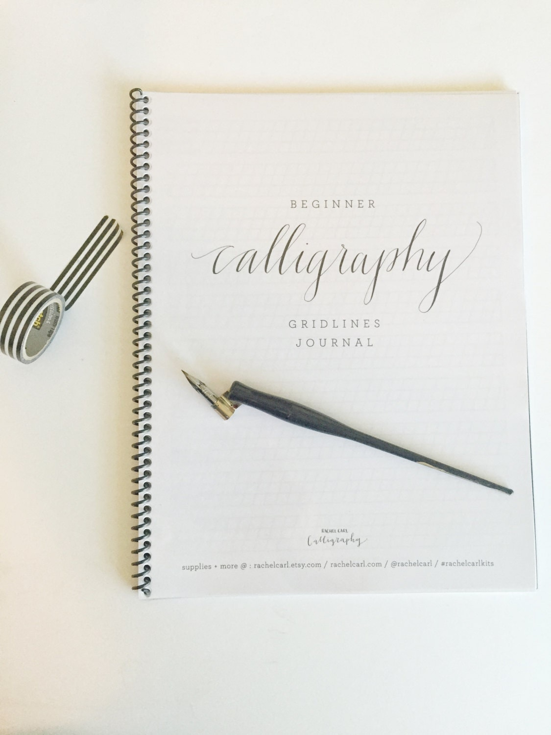 Beginner Calligraphy Journal With Gridlines Notepad