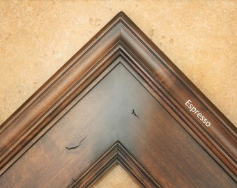 Extra Wide 6 Inch Picture Frame / Plein Air XL / Knotty Alder Wood