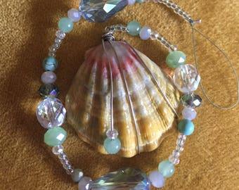 Sunrise Shell .. Beaded Crystal Light Catcher