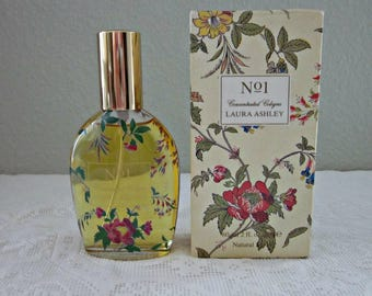 1980's Laura Ashley No 1 Concentrated Natural Cologne Spray, Full 2 Oz Bottle In Box, France - Collectible - French Perfume - Bobann23 Home